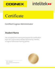 Cognex Certification
