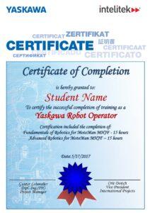Yaskawa Certification